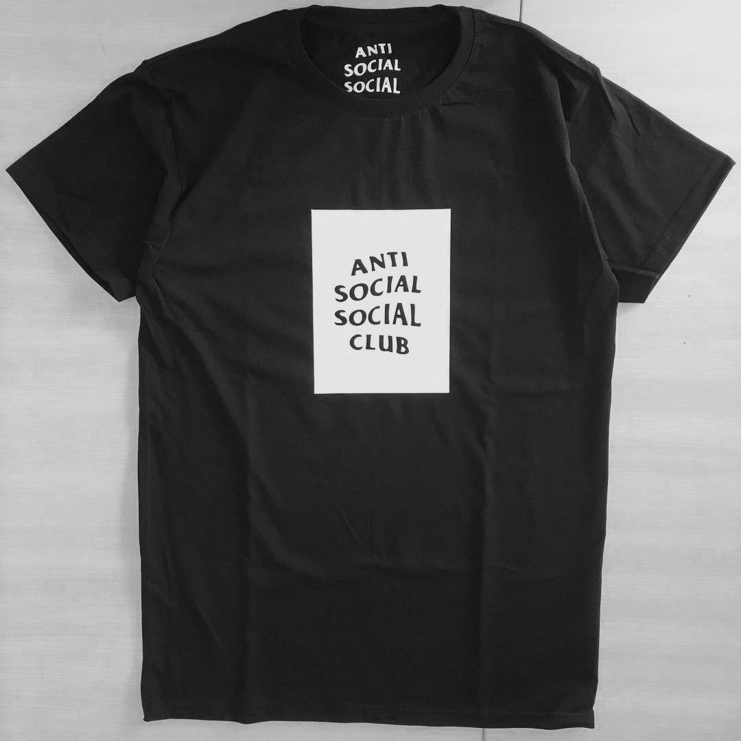 Футболка Anti Social social club black приятная к телу | Качественная реплика