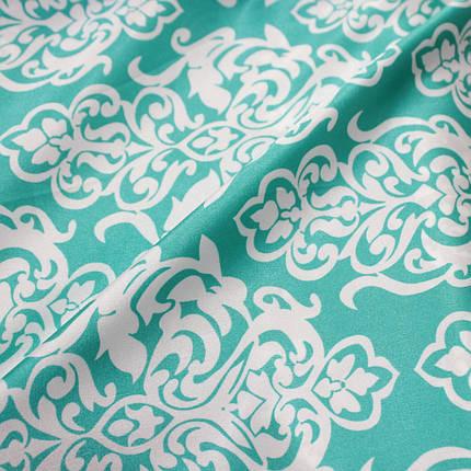 Ткань атлас стрейчевый принт абстракция S-09, фото 2