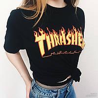 Футболка Thrasher Magazine Flame женская с принтом   Качественная реплика 486e934a9ec