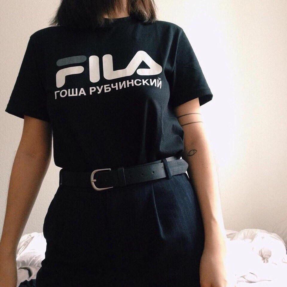 Футболка Гоша Рубчинский FILA женская. Оригинальные бирки | Качественная реплика