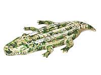Плот надувной Bestway Крокодил 41090 с ручками, 175х102 см