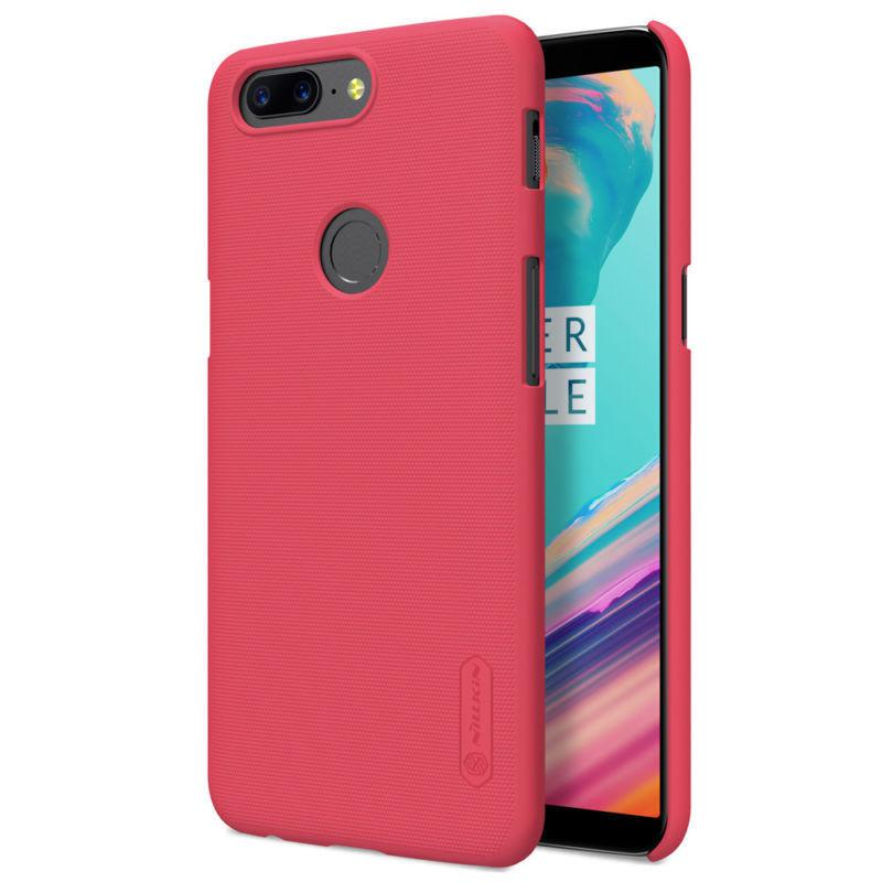 Nillkin OnePlus 5T (A5010) Super Frosted Shield Red Чехол Накладка Бампер