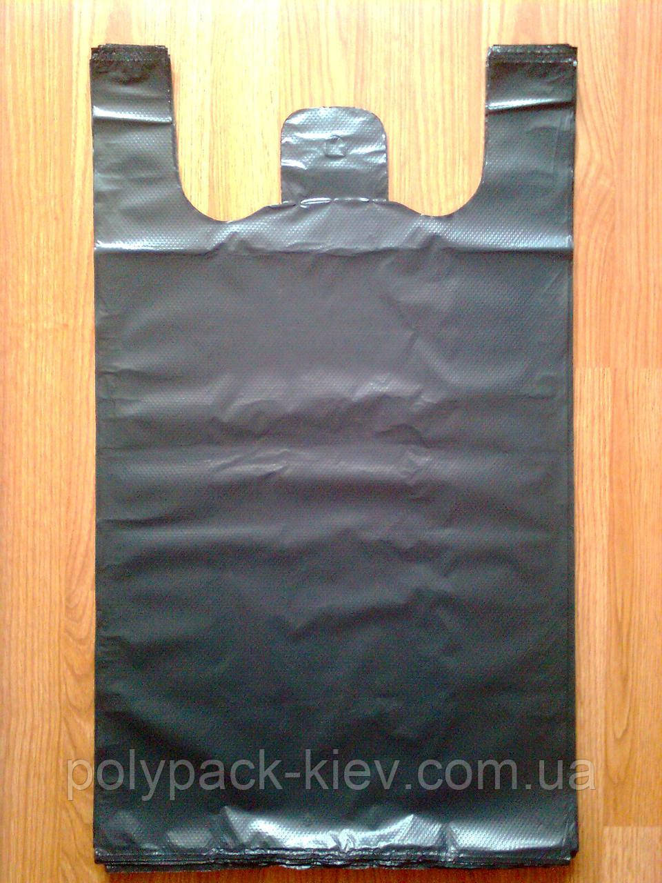 Пакети-майка 44*75 див. суперміцні без печатки чорні, щільний пакет без логотипу тип BMW, міцні кульки БМВ