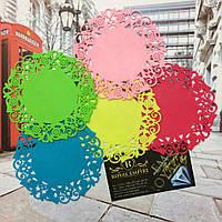 """Резиновые подставки под кружку """"Амели"""" разные цвета 5 шт в наборе., фото 1"""