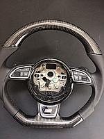 Руль карбоновый в стиле S-line на Audi Q7 4L