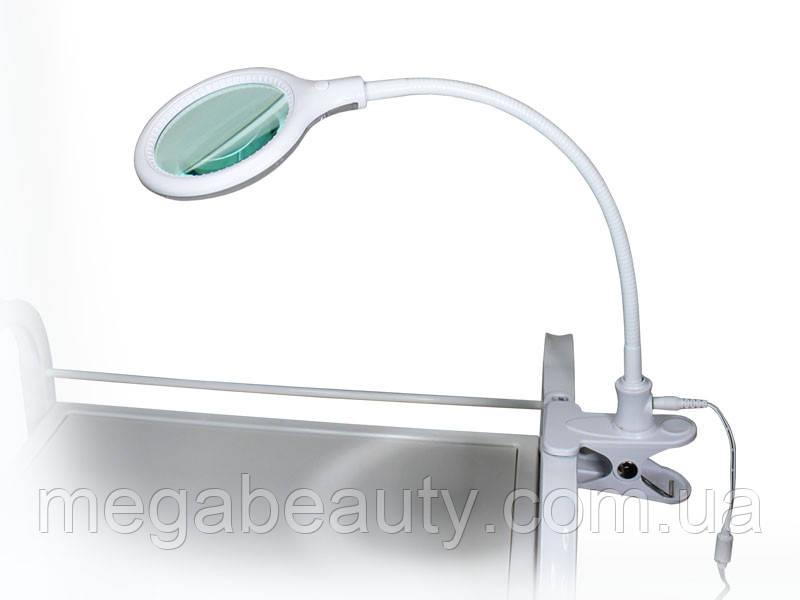 Лампа-лупа для наращивания ресниц 2014 LED 3D настольная, на прищепке