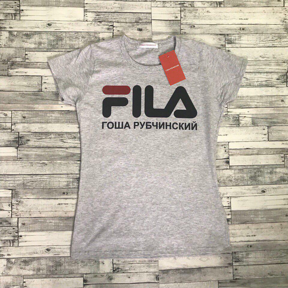 Fila Гоша Рубчинский футболка женская. Бирки в порядке. Живые фотки | Качественная реплика