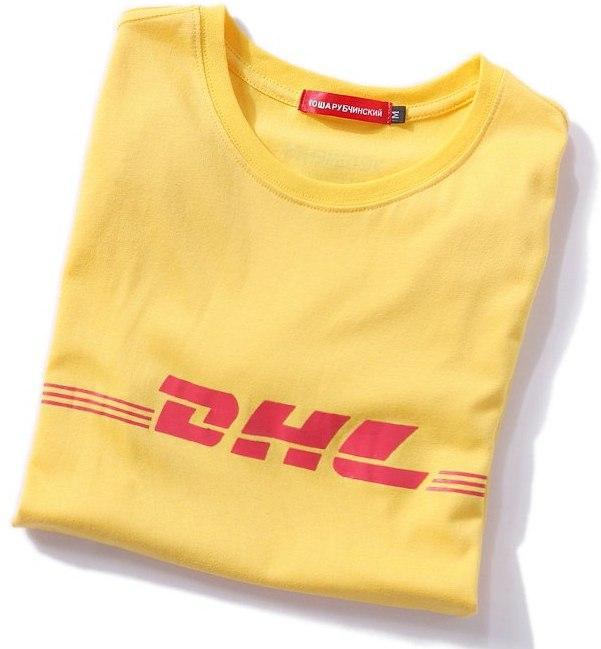 Футболка DHL | бирка Гоша Рубчинский | Желтая мужская и женская |