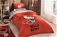 Постельное белье подростковое Hello Kitty Bow 160х220 ранфорс Tac