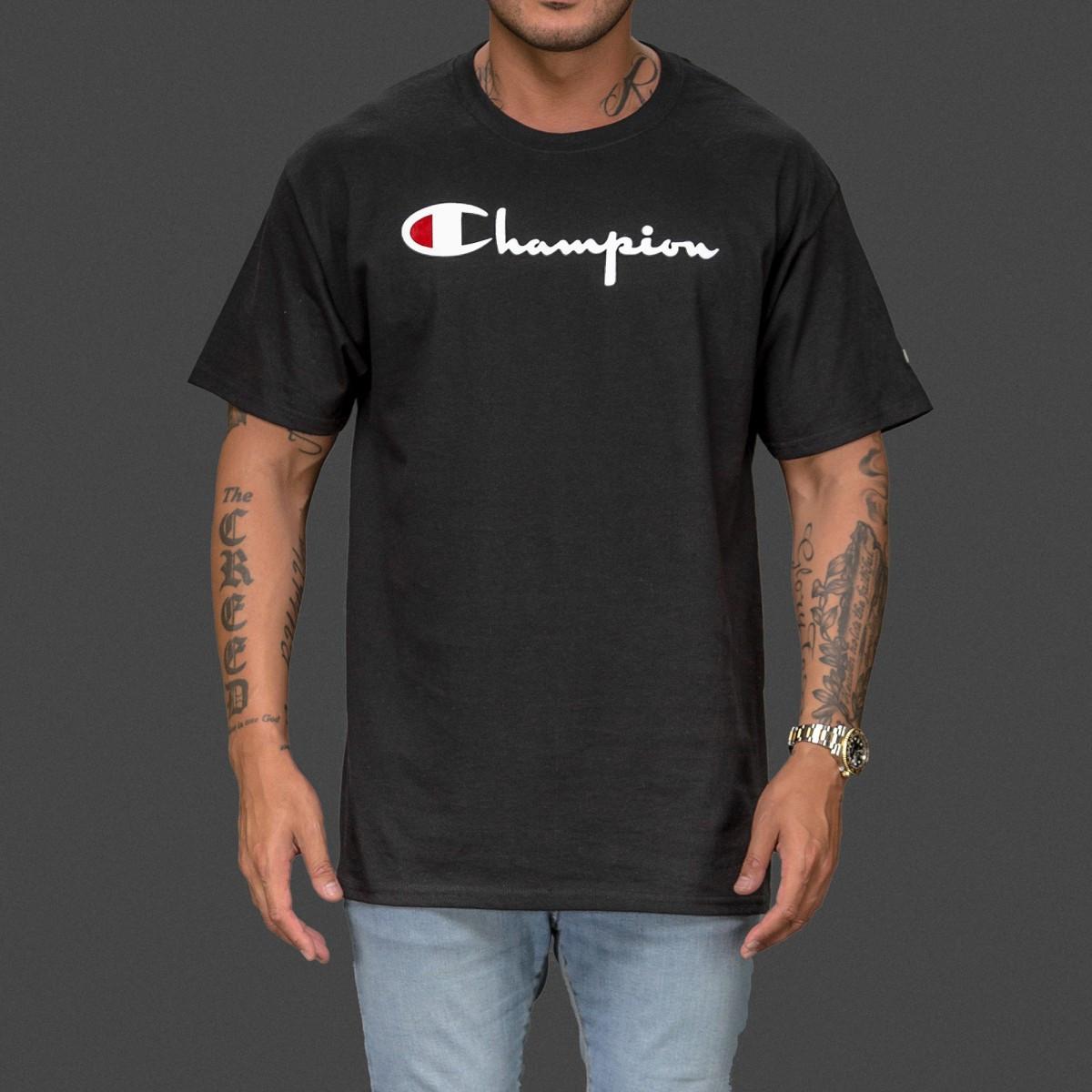 Champion Футболка мужская • Бирка оригинальная • чёрная | Качественная