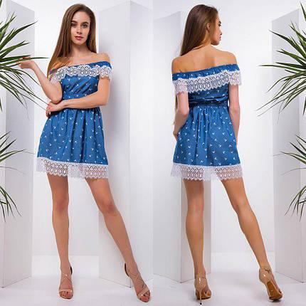 Повседневное летнее платье с кружевом тв-180509-6, фото 2