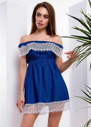 Повседневное летнее платье с кружевом тв-180509-8, фото 2
