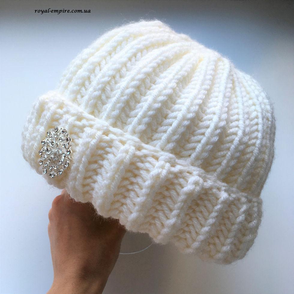 """Тепла шапка """"Вікторія"""", (без брошки) різні кольори."""