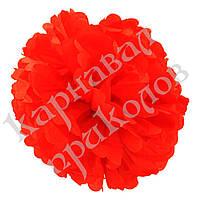 Декор бумажные Помпоны 35см (красный 0007)