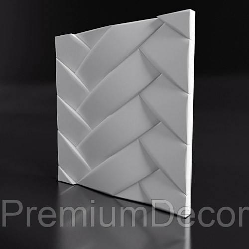 Гипсовые 3Д/3D панели ПЕРЕПЛЕТ