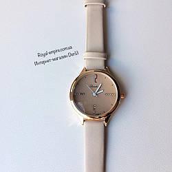 """Годинник """"Джина"""" кварцові на ремінці. білий"""