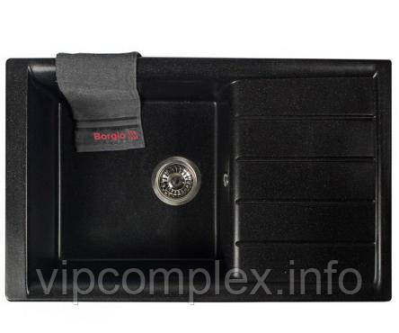 Мойка гранитная PRM-790x500 (черный)