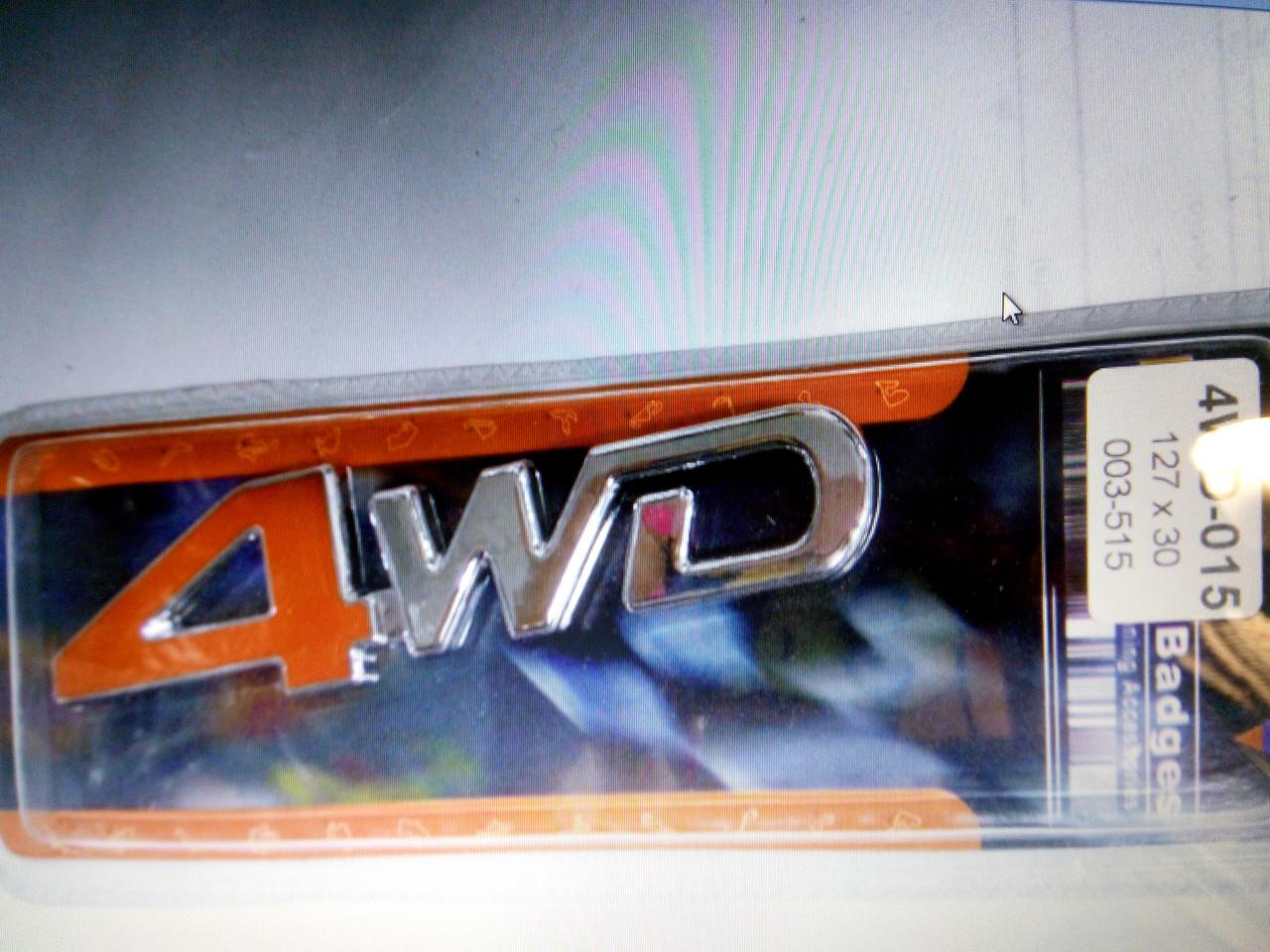 Надпись 4WD  127х30 мм