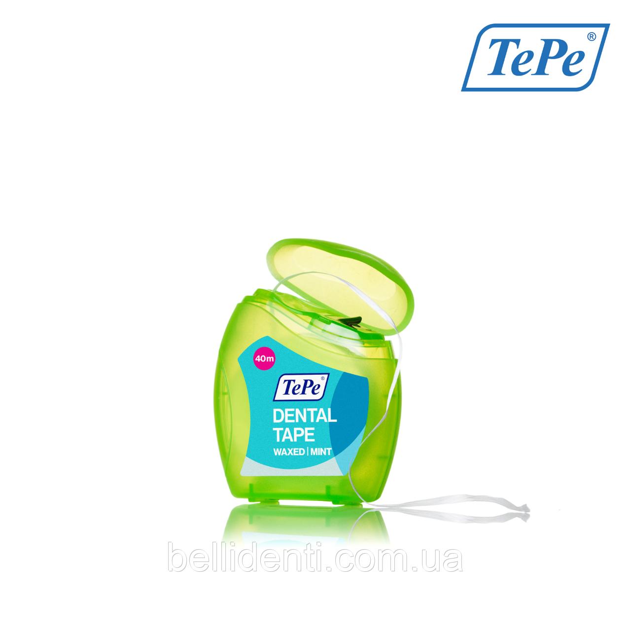 Зубная лента TePe Dental Tape, 40 м (тефлоновая)