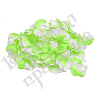 Лепестки роз (уп. 120шт) салатово-белые