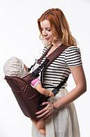Рюкзак-кенгуру переноска для детей от 3-х месяцев Шоколад