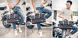 Стильна чоловіча сумка мішковина, фото 8