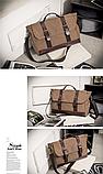 Стильна чоловіча сумка мішковина, фото 2
