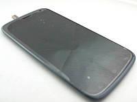 Дисплей с сенсором и лиц. панелью (grey-blue) Fly IQ4410, оригинал