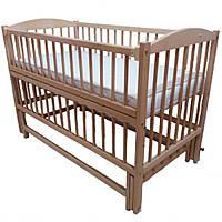 Кроватка для новорожденных маятник Дубок Без ящика