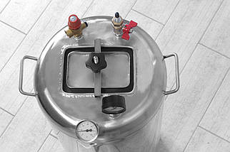 Автоклав бытовой из нержавеющей стали с термостатом Гуд32 электро (32 банки 0,5), фото 3