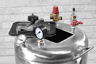 Автоклав бытовой из нержавеющей стали с термостатом Гуд32 электро (32 банки 0,5), фото 2