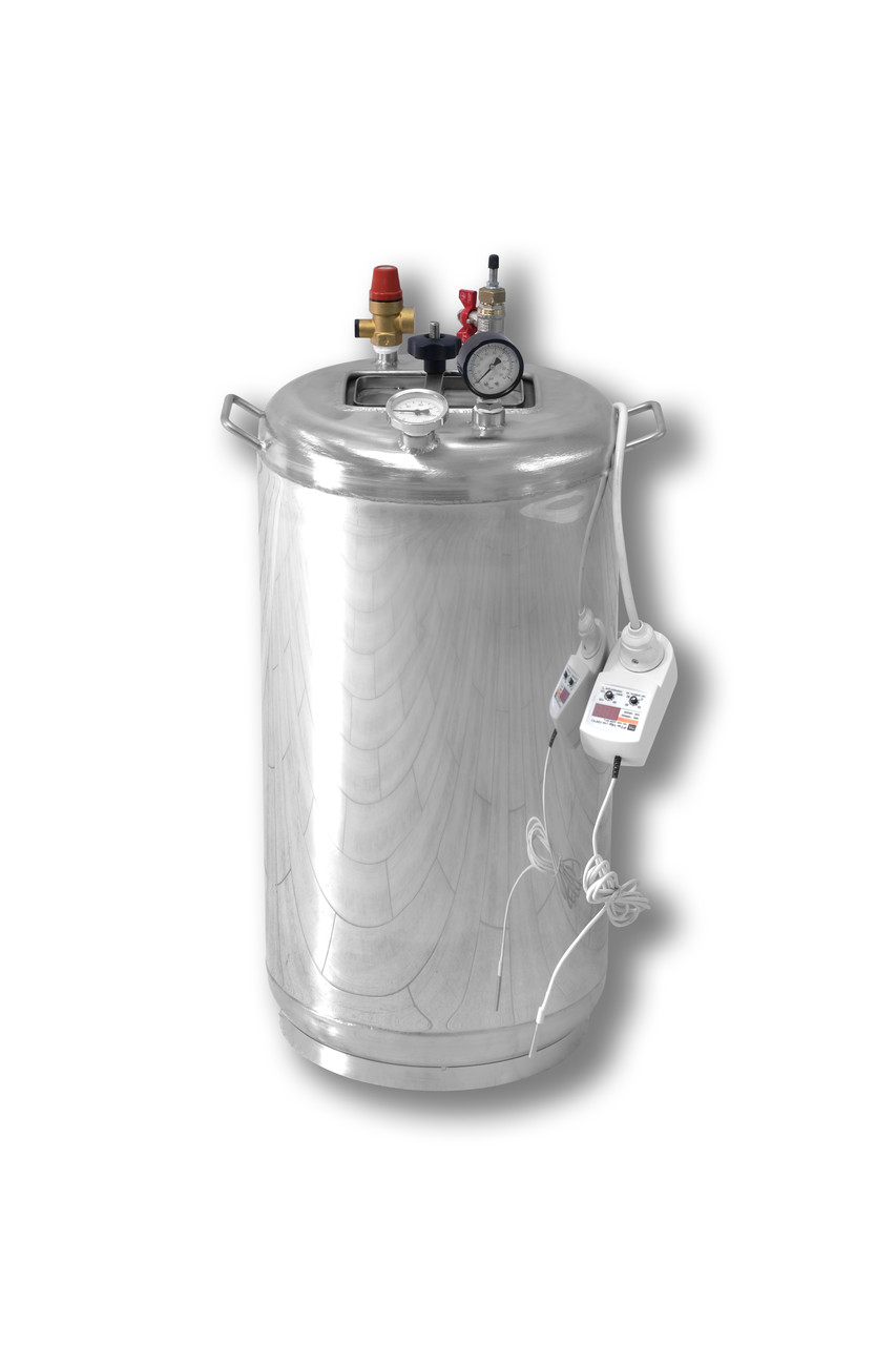 Автоклав бытовой из нержавеющей стали с термостатом Гуд32 электро (32 банки 0,5)