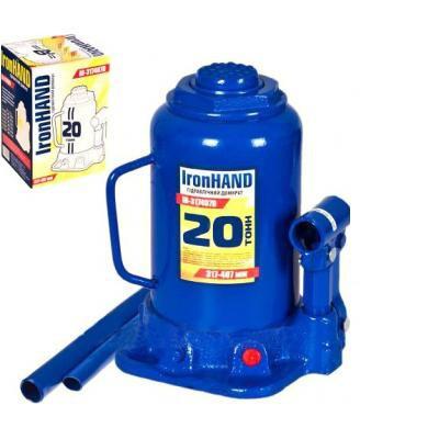 Домкрат автомобильный гидравлический бутылочный 20 т. IH-317407D Vitol