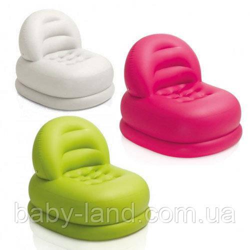 Кресло надувное велюровое Intex 68592