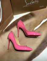 Christian Louboutin туфли с шипами розовые