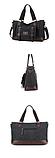 Большая мужская сумка мешковина черная, фото 3