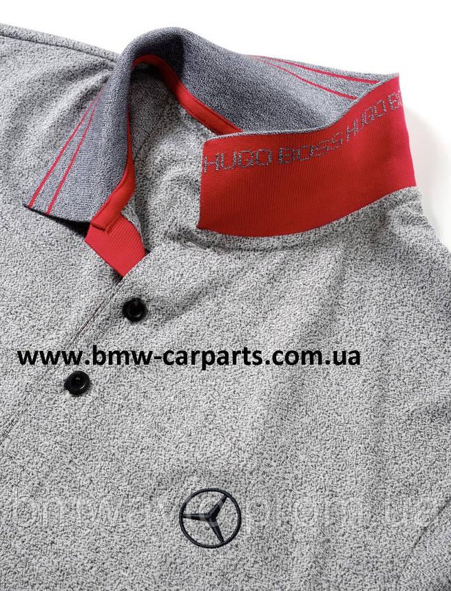 Мужская футболка поло Mercedes-Benz Men's Polo Shirt, Boss Green, фото 2