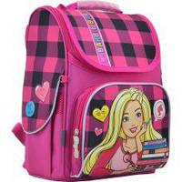 Ранец каркасный 1В  Barbie red 555156