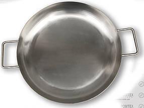 Сковорода для жарки на костре 45 см (пищевая нержавеющая сталь), фото 2