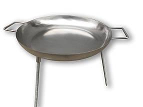 Сковорода для жарки на костре 45 см (пищевая нержавеющая сталь), фото 3