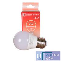 "LED лампа ""шар"" E27 G45 7W"