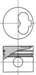 Поршень STD Volkswagen Caddy, T4 1,9D/2,4D без колец