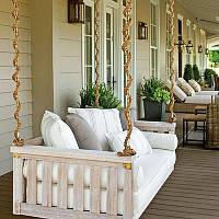 Подвесной диван. Садовые качели Wood Luxury.