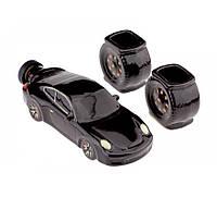 Подарочный набор авто 18 см Porsche 911, 3 предмета