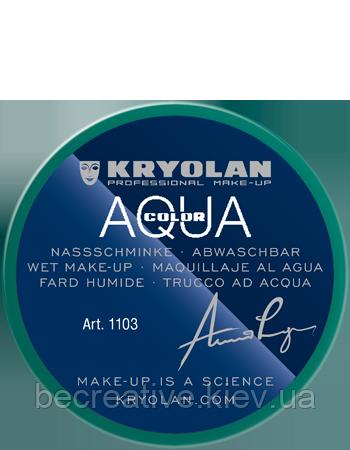 Зеленый  аквагрим AQUACOLOR 55мл(оттенок Green 21)