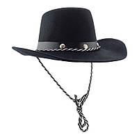 Шляпа детская с заклепками Ковбой (черная)