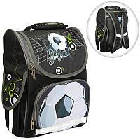 Ранець (рюкзак) - короб ортопедический для мальчика - Футбол - мяч, размер 34,5*25,5*13см Smile988324