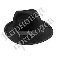 Шляпа Мужская фетр (черная)