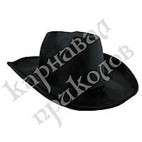 Шляпа Ковбоя велюровая (черная)