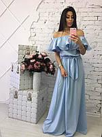 Длинное летнее платье в пол шифон, фото 1